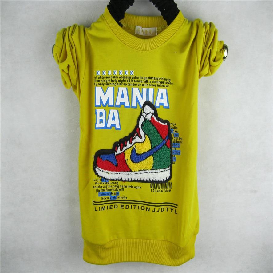 Design t shirt kid - Online Shop Wholesale Children S Wear T Shirt Print Boy Long Sleeved T Shirt Kids Fashion Shoes Design Shirt Free Shipping Aliexpress Mobile