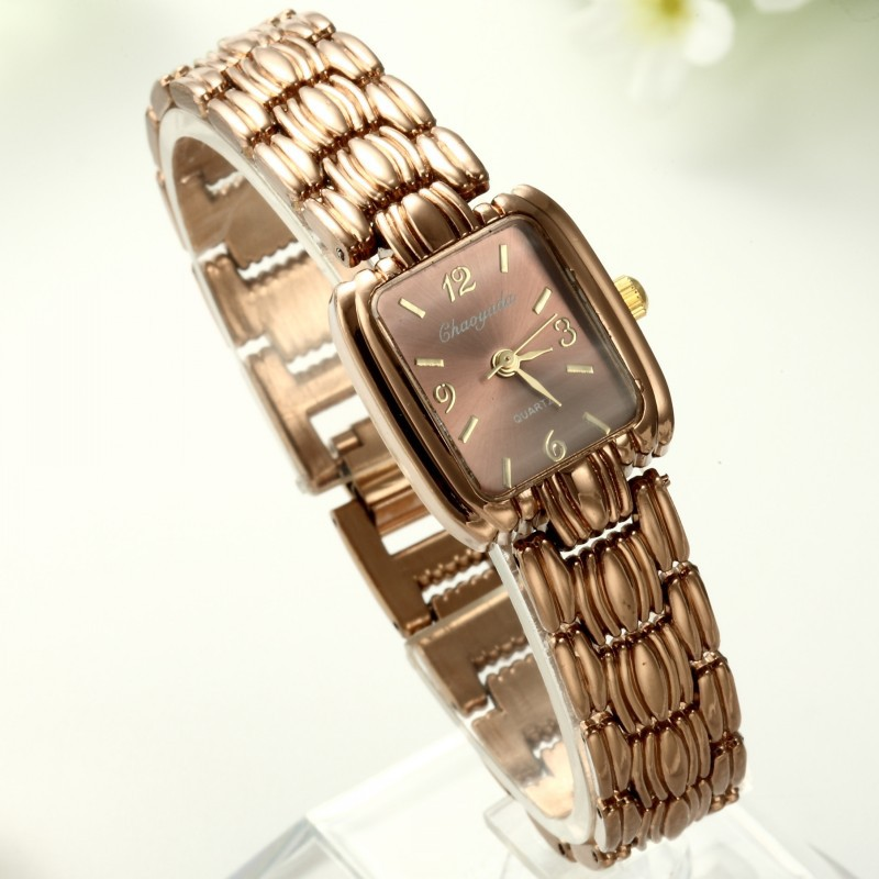 Fashion Bracelet Watch Women Major Relojes Capitales Gladiator Style Watch Rose Gold Steel Strip Quartz Female Wristwatch Clock