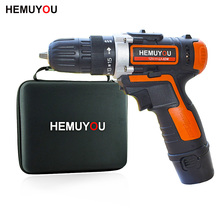 12V cordless electric screwdriver mini drill dual speed + smart battery display home good helper