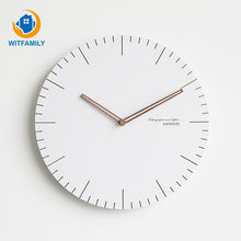 Bedroom Home European Wall Clock Silent Clock 12 Inch Nordic Clock Living Room Modern Minimalist Creative Clock(China)