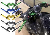 Motorycle CNC Aluminum Adjustable Handlebar Handle Bar With Clip on Adapter Clamp Kit for 2017 2018 2019 Kawasaki Z900 ZR900 ABS