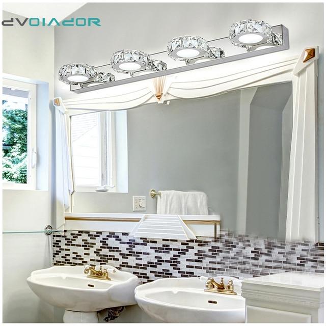 Bathroom Vanity Lighting Crystal aliexpress : buy dvolador bathroom vanity light led crystal