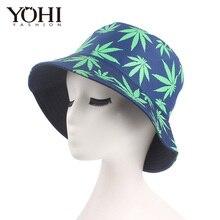 Nuevo verano hombres y mujeres visera sombreros hoja impresión flor maceta  gorra pescador sombrero de viaje 17f19928892