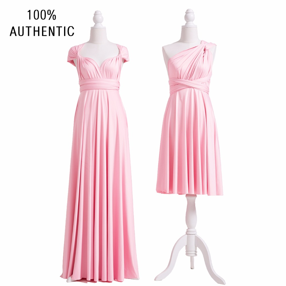 Blush Pink Multiway   Bridesmaid     Dress   Infinity   Dress   Long Maxi Plus Size   Dress   Gown Wrap   Dress   With Cap Sleeves Style