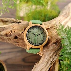 Image 4 - BOBO BIRD − montre bracelet en bambou, bracelet à Quartz, pour hommes et femmes, collection W B06