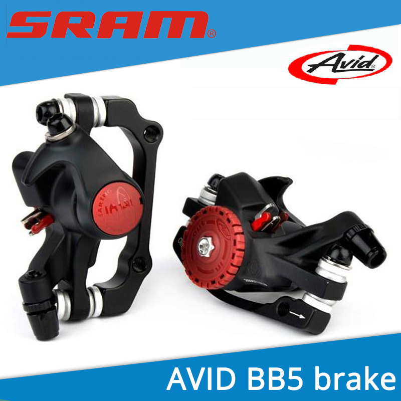 MTB/Road Bike Disc Brake SRAM AVID BB5 & 160 mm Rotors Bicycle Mechanical Brake Front + Back avid bb5 disc brakes mountain bike road bike folding bike disc brake 160mm g3 hs1 discs bicycle brake accessories