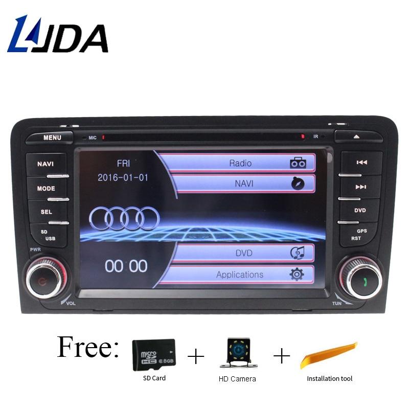 LJDA 2 din 7 дюймов Автомобильный мультимедийный DVD плеер для Audi A3 RS3 2003 2011 авто радио gps навигации рулевое управление стерео SD