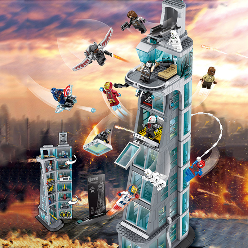 LEGOing Marvel Super Heroes Attack on Avengers Tower 511pcs