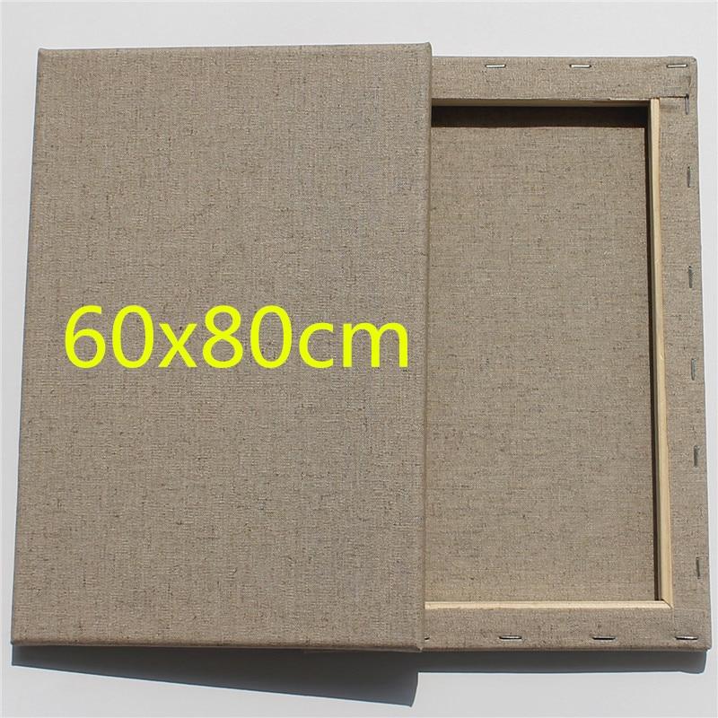 60x80 سنتيمتر الكتان اللون امتدت قماش ل رسومات فنية-في لوحات تلوين قماشية من لوازم المكتب واللوازم المدرسية على  مجموعة 1