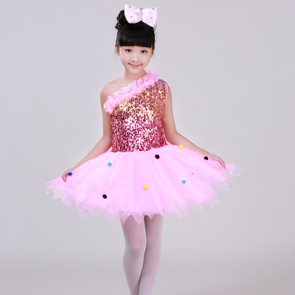 ᐅTraje de lentejuelas para niños chicas Paillette hilado de falda ...