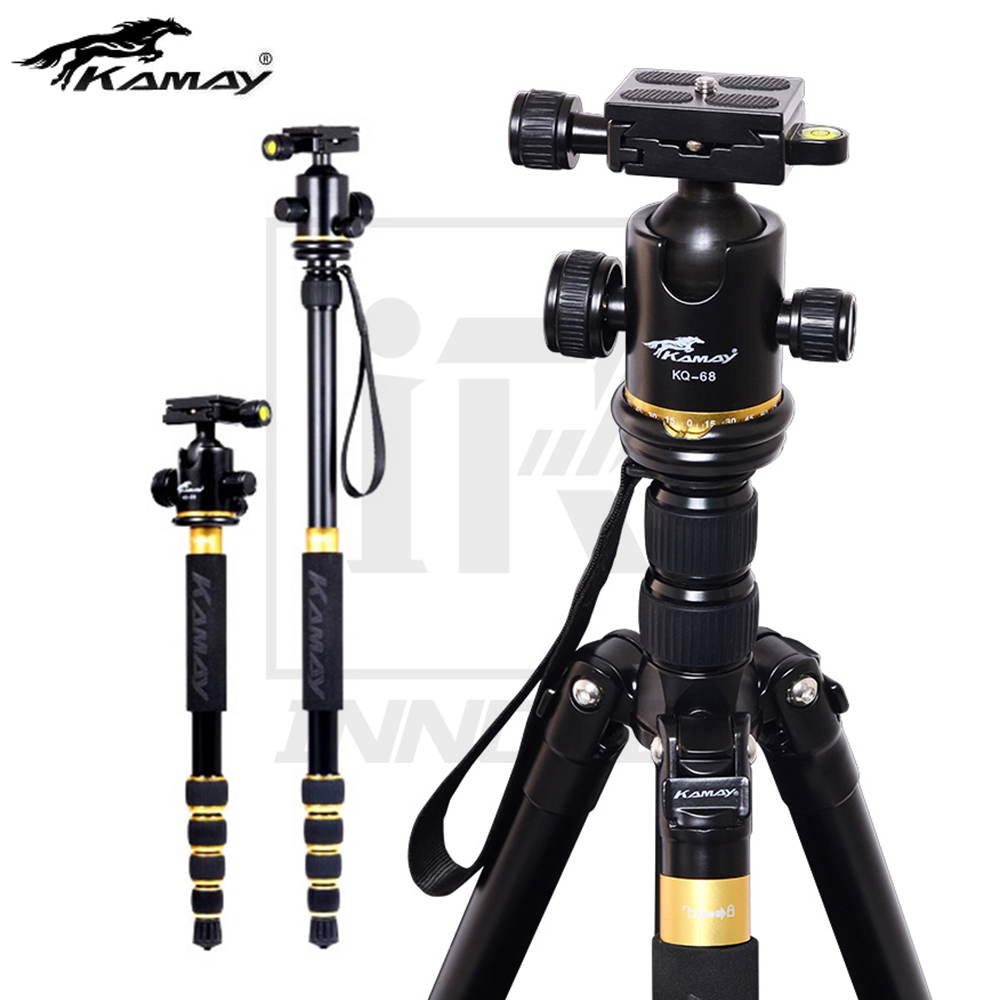KAMAY K-888 Professional Aluminium Alloy Tripod Monopod Panoramic Ballhead For Travel DSLR Camera Light Compact Portable Stand professional aluminium alloy tripod kit monopod for dslr camera five colors available light compact portable