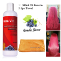 Kera Vit 500ml Brazilian Keratin Treatment 5% Formalin +hair drying towel for curly hair  Free Shipping