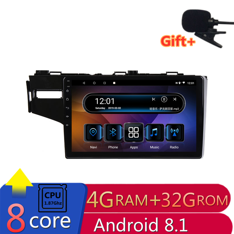 "10.1"" 4G RAM 8 cores Android Car DVD GPS Navigation For Honda Fit 2014 2015 2016 audio stereo car radio headunit bluetooth wifi"