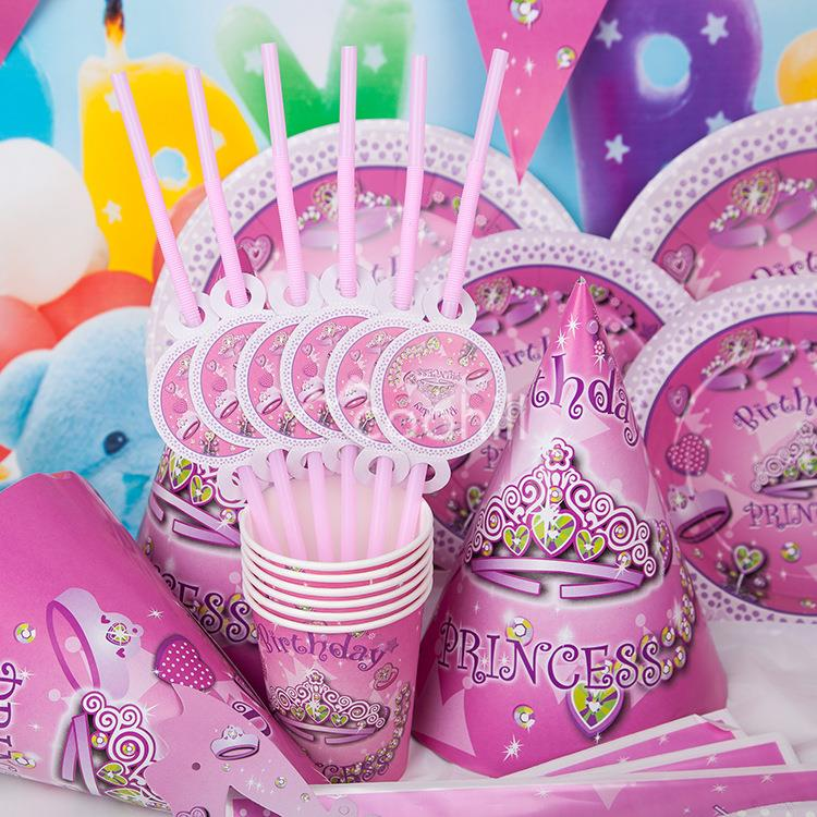 90pcs Set Pink Princess Birthday Party Decorations Girl Event Supplies Favor Items For Children Kids On Aliexpress