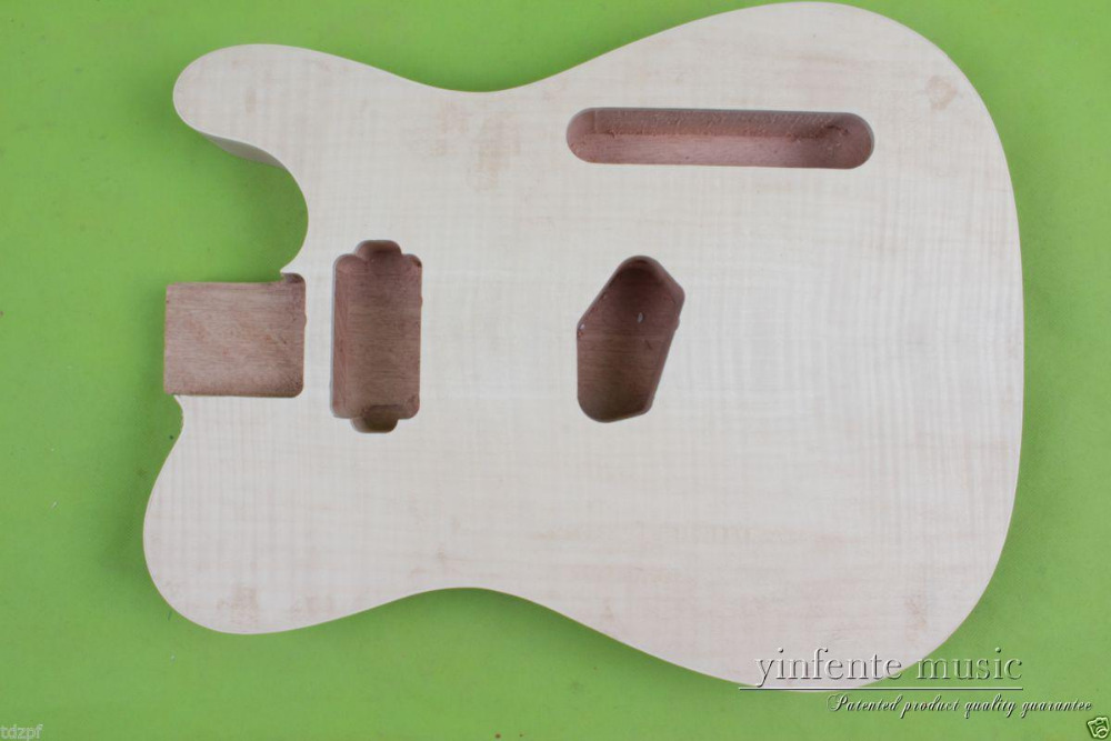 New Electric guitar Body Solid Body mahogany Flame Maple Veneer Unfinished #868 play doh игровой набор магазинчик домашних питомцев
