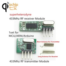 433mhz RF Transmitter and Receiver superheterodyne ASK 433 mhz Module With Antenna small size For Arduino uno Wireless Diy Kits