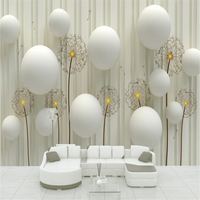 Custom Photo Wallpaper Large Mural Wall Sticker Background Wall Mural Three Dimensional Ball Dandelion Papel De