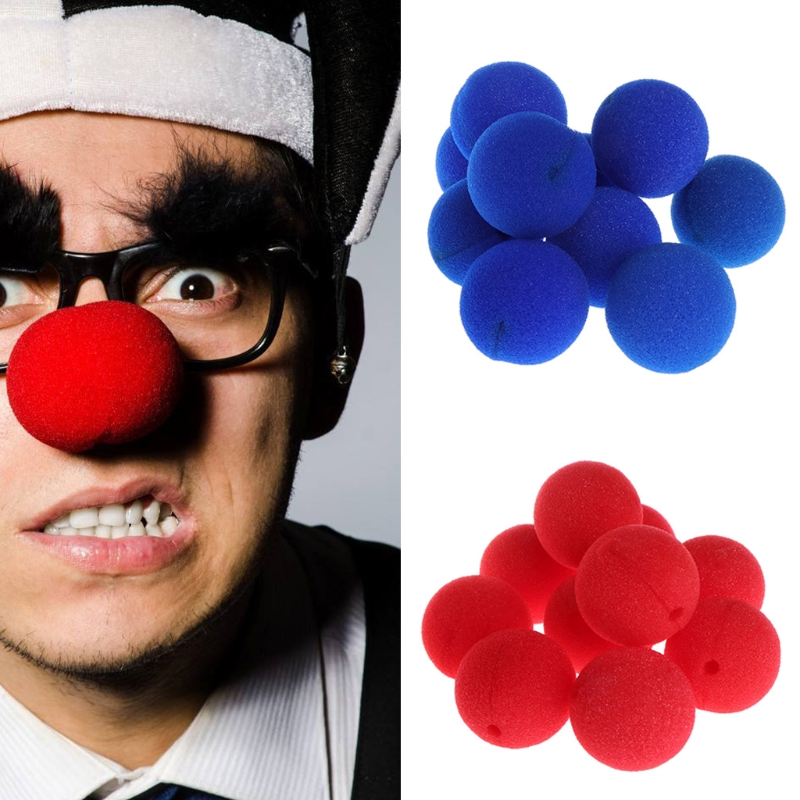10Pcs Sponge Ball Clown Nose For Christmas Halloween Costume Party Toy