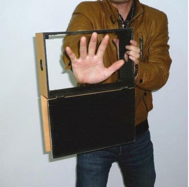 Voir à travers la boîte à bascule (en bois)/Illusions de magie pour les magiciens, tours de magie professionnels, accessoires de magicien, Illusion de magie de scène