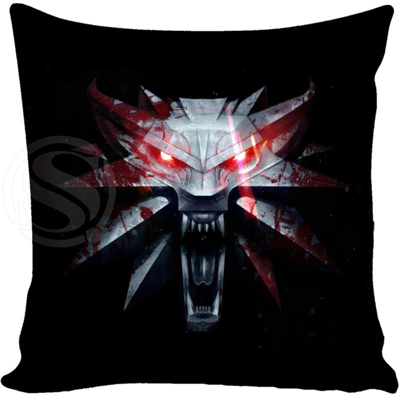 Top The Witcher 3 Wild Hunt Wolves Games Style throw Pillowcase Custom16x16 Inch and 16X16Inch (Twin Sides)Hot Sale