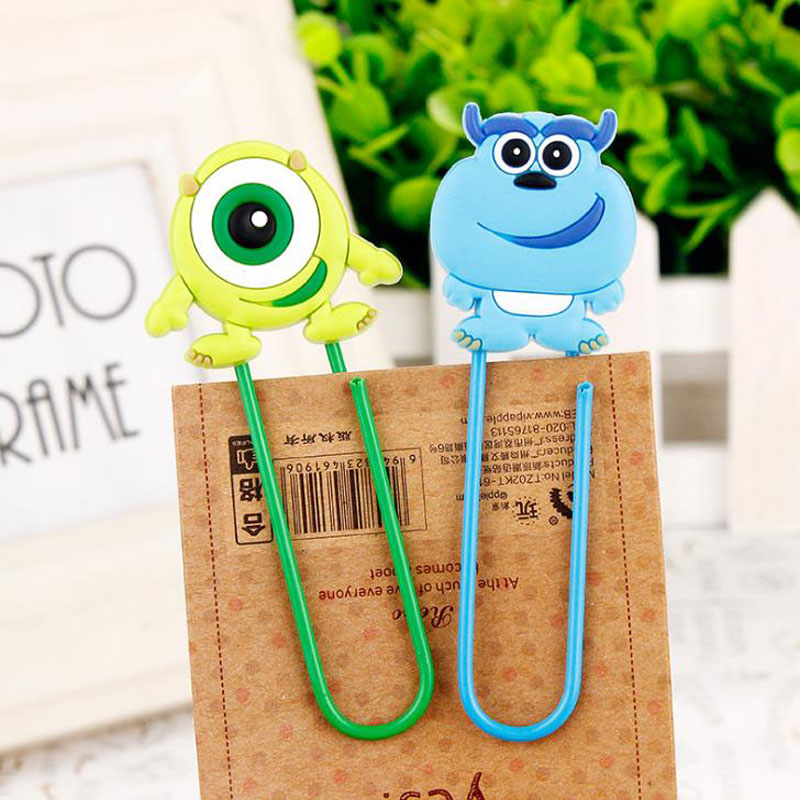 1 Pcs Korean Stationery Cute Monster Bookmarks For Books Cartoon PVC Paper Kids Gift Canetas School Supplies