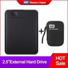 Western Digital WD Elements портативный жесткий диск 1 ТБ 2 ТБ 4 ТБ внешний hdd 2,5 дюймов USB 3,0 жесткий диск оригинальный для ПК ноутбук