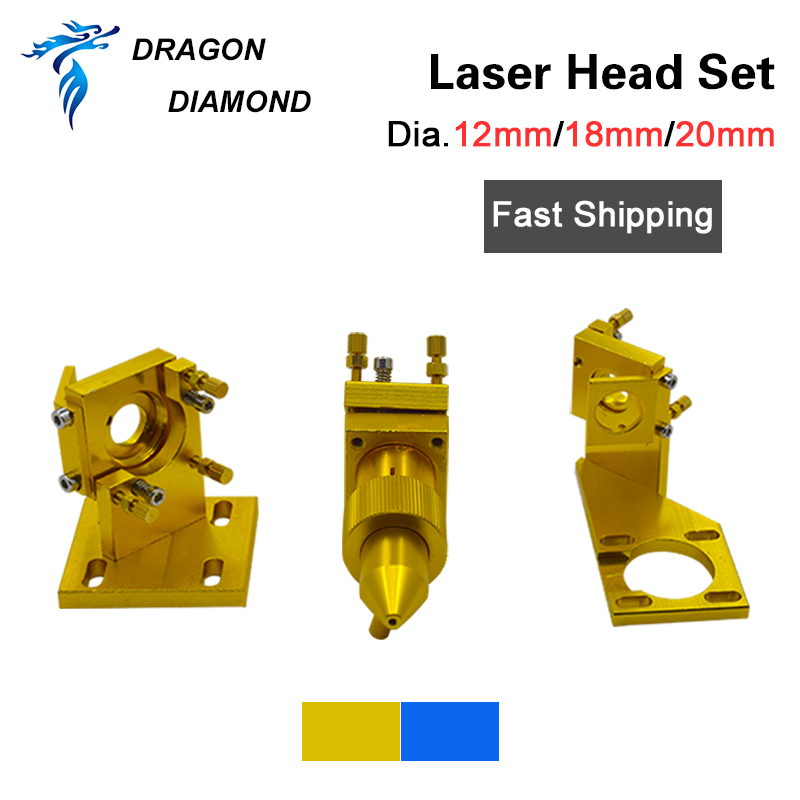 K40 Series:CO2 Laser Head Set 12mm 18mm 20mm FL 50.8mm For 2030 4060 K40 CO2 Laser Engraving Cutting Machine