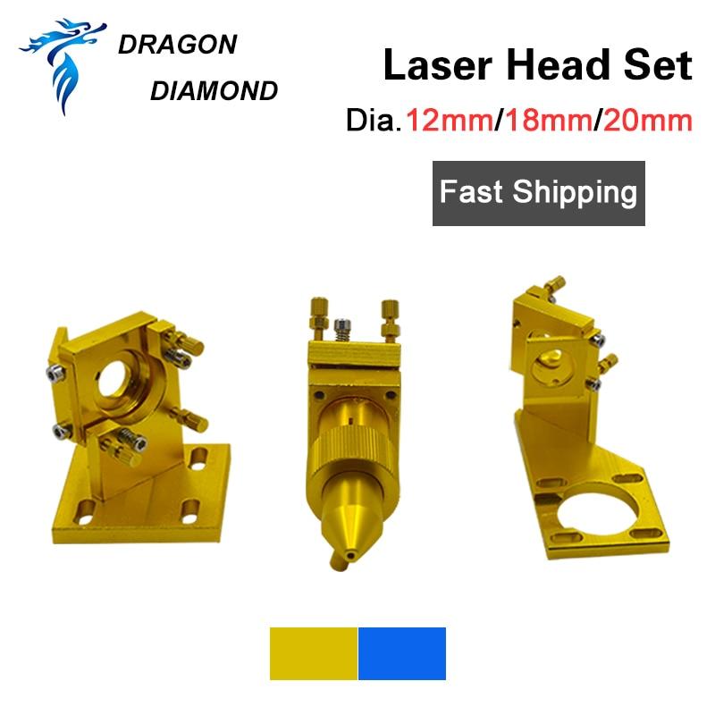 K40 Series:CO2 Laser Head Set 12mm 18mm 20mm FL 50.8mm For 2030 4060 K40 CO2 Laser Engraving Cutting Machine
