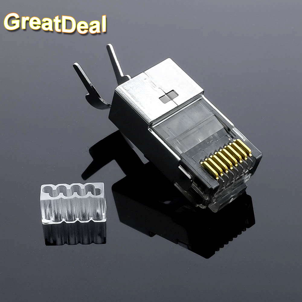 10pcs cat7 rj45 connector cat 7 network connector rj45. Black Bedroom Furniture Sets. Home Design Ideas
