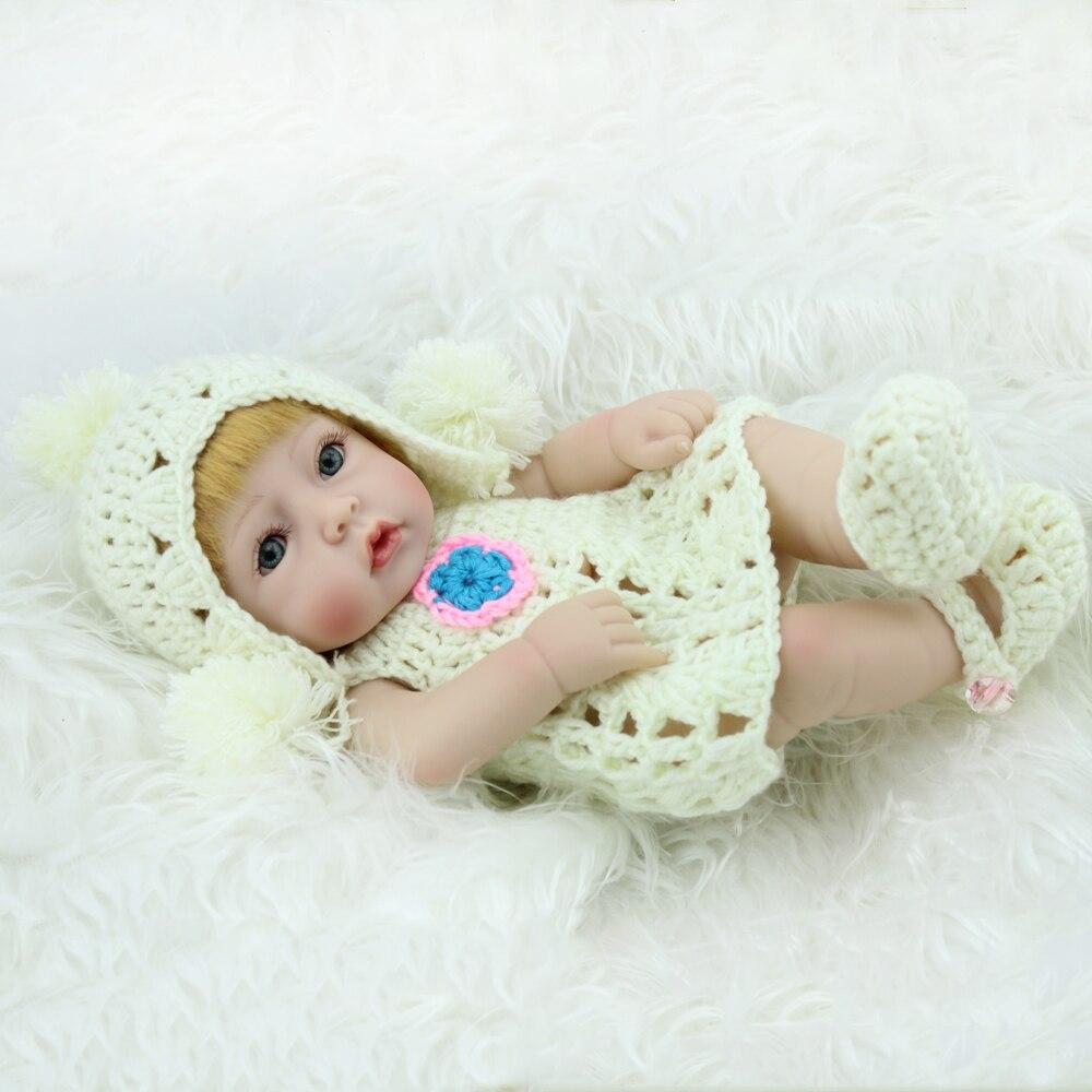 Reborn bébé poupées nouveau-né grands yeux filles américaines poupées vraie vie à la recherche de bébé poupées jouets solides Silicone bébés poupées noël Y