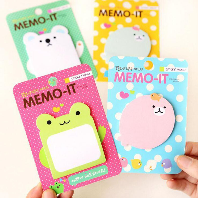 8pcs/lot New Funny Cute Cartoon Animal design Notepad/sticky/emo pad/Paper sticky note/sticker message post GT354
