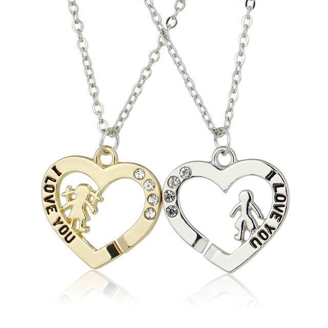 d073aa6d0a6d Oro plata chica pareja novio y novia regalo del corazón para el amor  joyería 1 unids
