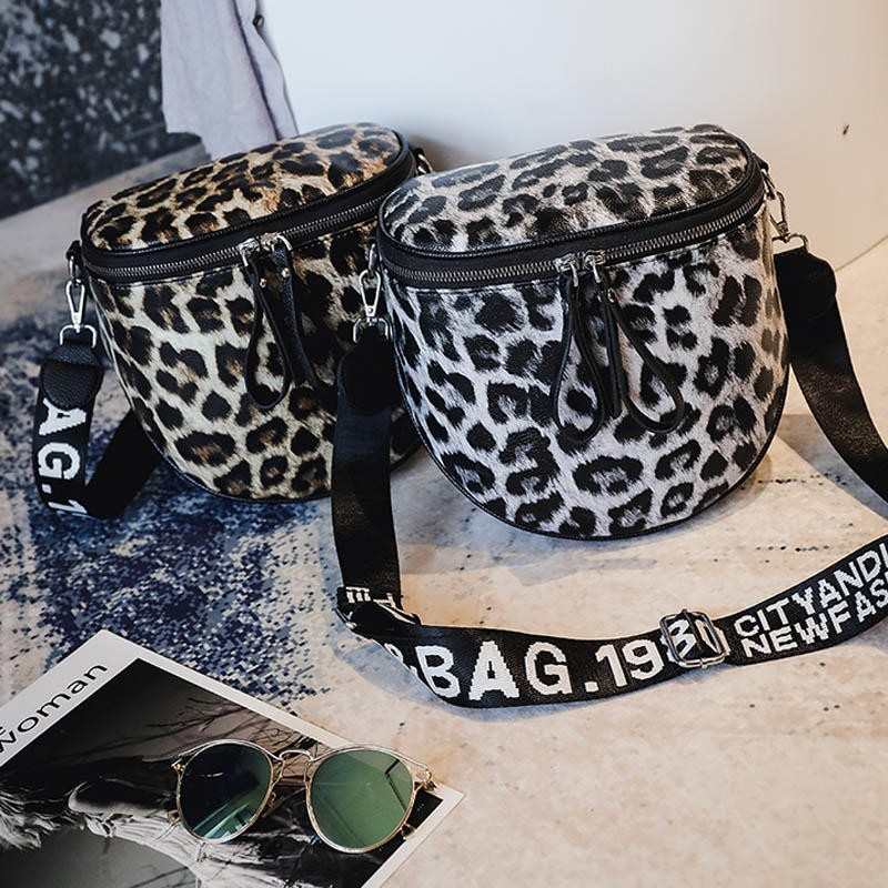 Leopard Print Bucket Woman Bag Pu Leather Crossbody Bags For Women Messenger Bags Female Shoulder Handbag Crossbody Bags Women in Shoulder Bags from Luggage Bags