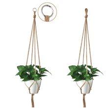 Винтажная вешалка для растений макраме крючок держатель цветочного горшка ножки веревка для подвешивания стены искусства дома сада оформление балкона