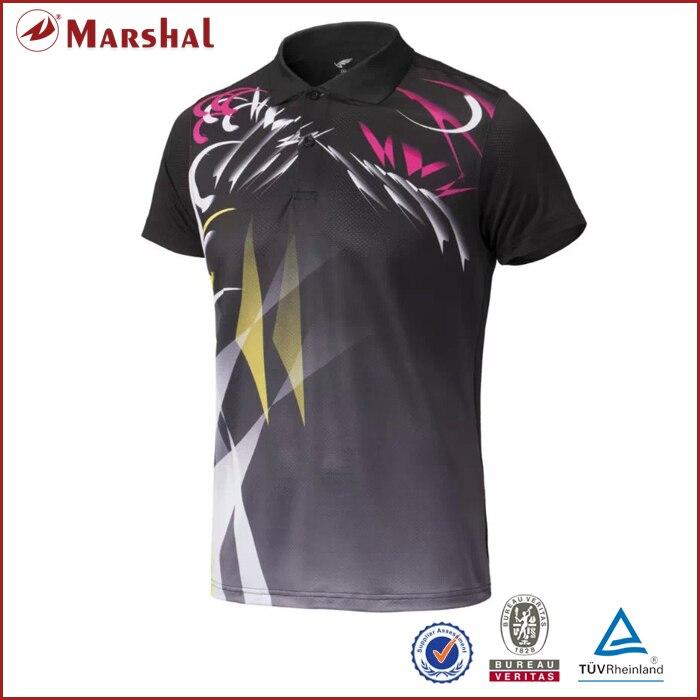 Оптовая продажа сухой подходят Полностью Сублимации Пользовательские пары унисекс Рубашки для мальчиков Настольный теннис, Бадминтон Дже...
