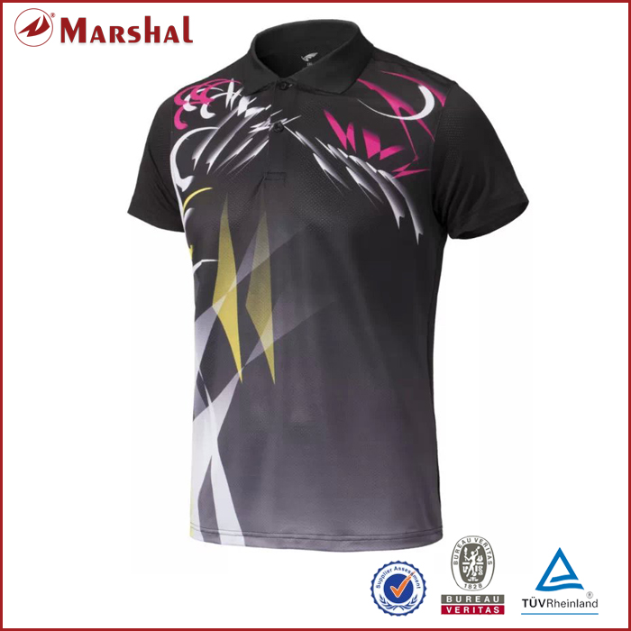 Wholesale dry fit Fully Sublimation Custom Couples Unisex Shirts Table Tennis,Badminton Jersey Free Shipping
