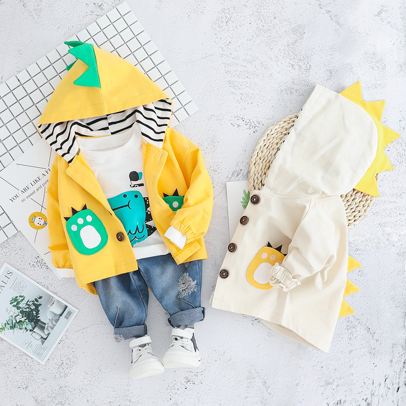 New Fall Autumn Cotton Casual Full Newborn Clothes Baby Girl Hoodied Sweater Cartoon Baby Shirt Pant Three Piece Clothing Suit