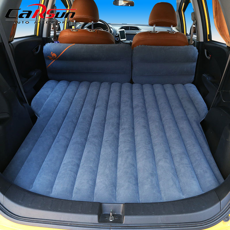 175 103 10CM Car Bed Inflatable Flocking Car Mattress For Automobiles Colchon Inflable Para Auto Car Travel Bed Camping