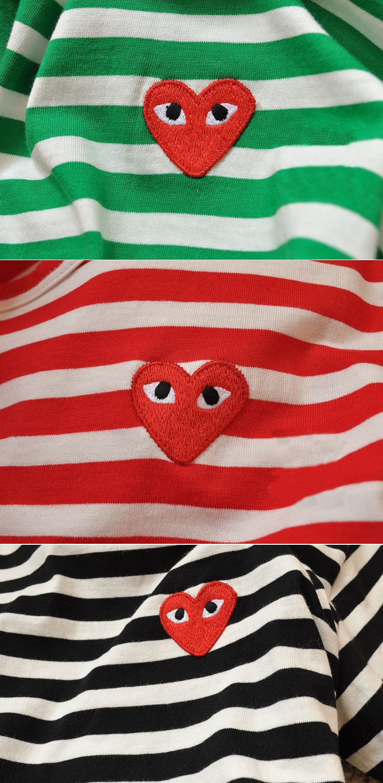 Brand 100 Cotton Mens T Shirt Cdg Play Red Heart Men And Women Kaos Pria Short Sleeve Sy761 8 13 14 15 16 9 10