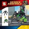 Marvel super heroes Черная пантера и Халк мех 2in1 РОБОТ строительный блок оружия кирпичи совместимы legoes игрушки для детей подарок