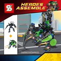 Marvel super heroes pantera Negra & Hulk mech 2em1 ROBÔ tijolos de bloco de construção de armas compatível legoes brinquedos para presente dos miúdos