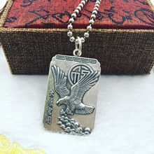 S990  silver  pendant Eagle realize the ambition car hanging sweater chain pendant