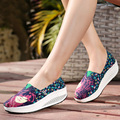 2017 Comfortable Women Casual Shake Shoes Woman Trainers Outdoor Walking Footwear Platform Wedges Creepers Zapatos Mujer
