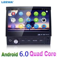1DIN 7 inch En el tablero Manumotive Ultra Delgado del Androide 6.0 Quad Core Bluetooth GPS Navi Radio USB Multimedia jugador # CA4106