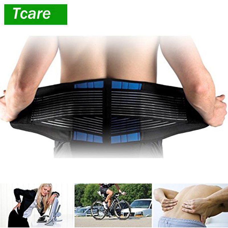 1Pcs Adjustable Neoprene Double Pull Lumbar Support Lower Back Belt Brace Pain Relief Band Waist Belt S-6XL Plus Zize