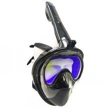 Маска для подводного плавания анфас Подводное плавание маска подводный Анти-туман закаленное стекло маска для плавания подводной охоты Прямая продажа с фабрики