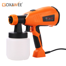 GOXAWEE 220V Electric HVLP Paint Spray Gun Airless Compressor Sprayer Gun For Painting Cars Wood Furniture Painting Power Tool
