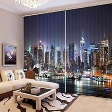 3D занавеска, классический домашний декор, Затемненные занавески для окон, s City Night Starlight, украшение для дома, спальни, на заказ, любой размер