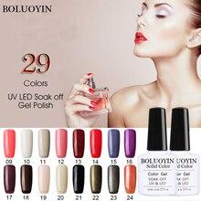 BOLUOYIN Gel Nail Polish Varnish Semi Permanant Soak Off Gelpolish Art Design Manicure LED UV Nails Lacque