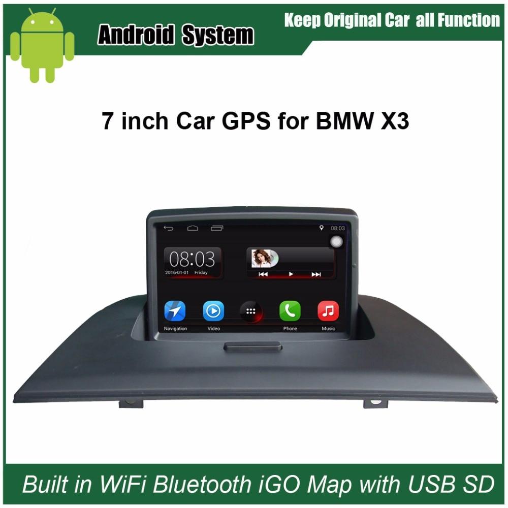 Обновлен оригинальный автомобиль Радио плеер костюм BMW X3 E83 Автомобиль видео плеер встроенный Wi-Fi GPS навигации Bluetooth с бесплатная 16 г USB